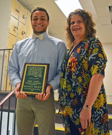 Mike James Memorial Scholarship awarded to Michael Brown