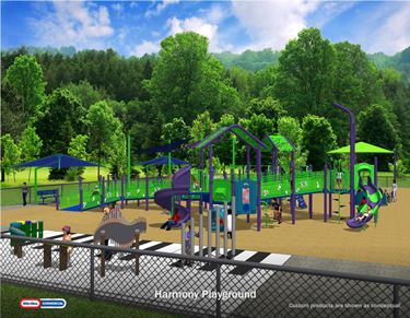 Harmony Playground featured on WCIA ci Living
