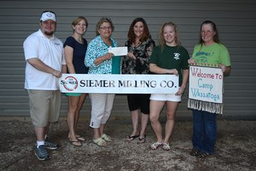 Girl Scouts of Southern Illinois recieve $5,000 from Siemer Milling Company Endowment