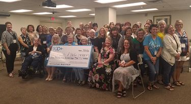 100+ Women Who Care Richland County contributes $3,350 to Olney Valor Quilters