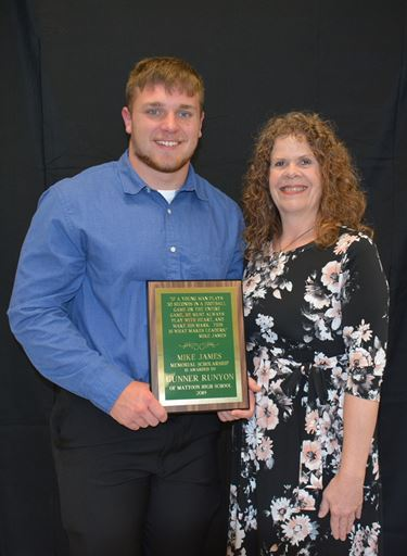 Mike James Memorial Scholarship awarded to Gunner Runyon