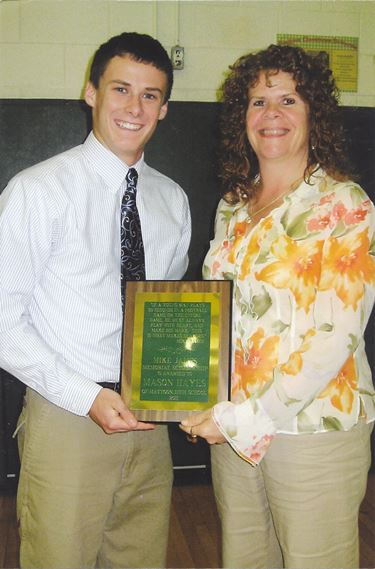 2011 Mike James Memorial Scholarsihp awarded to Mason Hayes