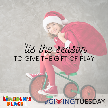 Give the gift of play this holiday season by supporting Lincoln's Place on Giving Tuesday