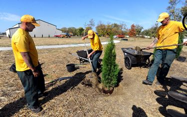 Businesses donate materials, services for Civil War memorial landscaping