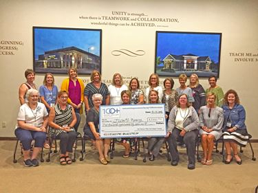 100 Women Who Care Jasper County contributes $5,850 to JCCU #1 Mentoring Program