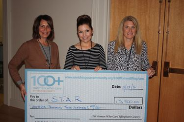 S.T.A.R. receives $13,300 grant from 100+ Women Who Care Effingham County