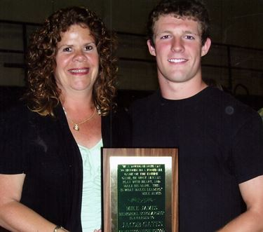 2012 Mike James Memorial Scholarship awarded to Jacob Gates