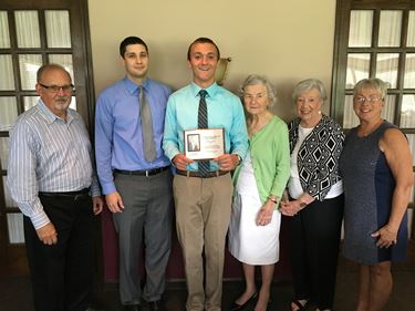 Arland D. Williams Jr. Scholarship awarded to Derek Pierce
